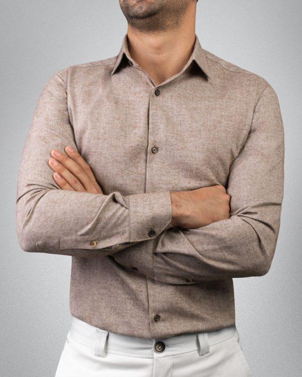 پیراهن مردانه پشمی کروم