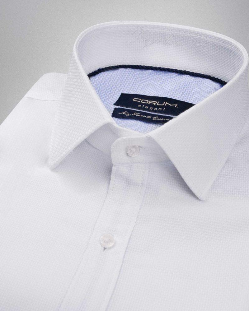 پیراهن مردانه کتان پچ دار