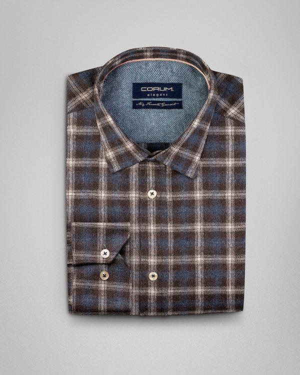 پیراهن مردانه پشمی طرح دار